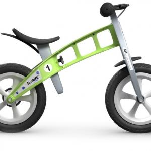 Bicicleta de equilibrio verde