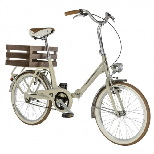 bicicleta plegable vintage color crema