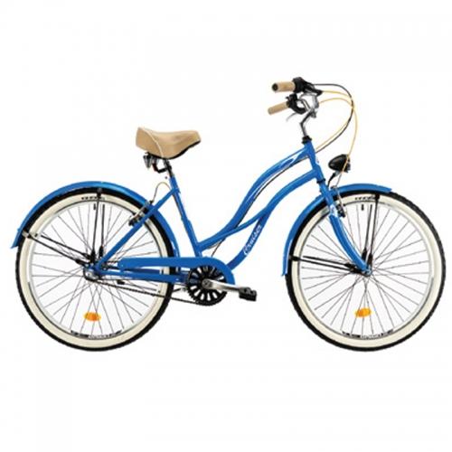 Bici cruiser mujer azul