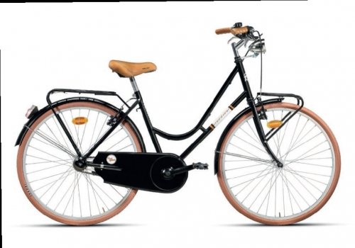 Bicicleta de paseo clásica NEGRO