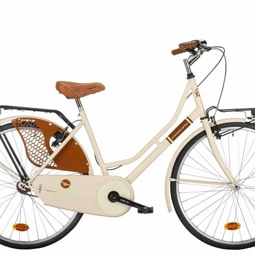 bicicleta de paseo clasica montana crema