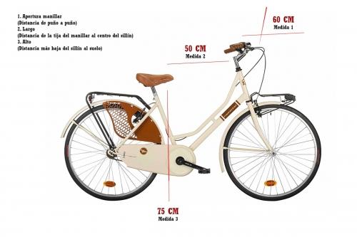 bicicleta clasica medidas