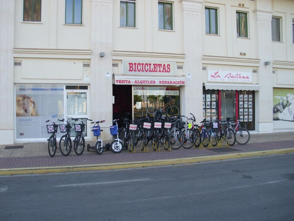 alquiler bicicletas costa ballena