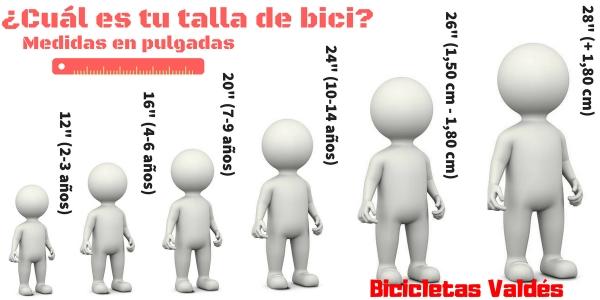¿Cuál es tu talla de bicicleta?