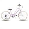 Bicicleta cruiser americana rosa