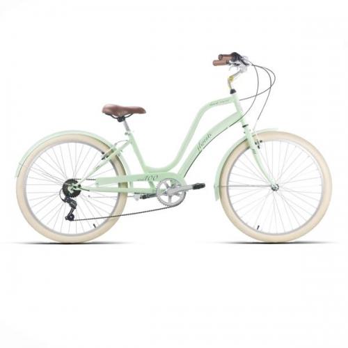 bicicleta americana verde pastel