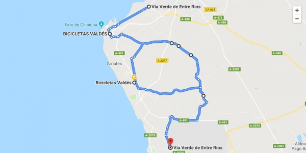 Ruta en bicicleta Vía Verde Entre Ríos