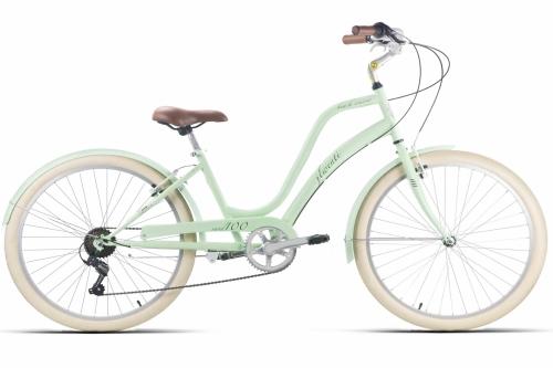bicicleta cruiser verde pastel