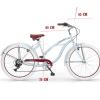 bicicleta cruiser playera celestehonolulu-
