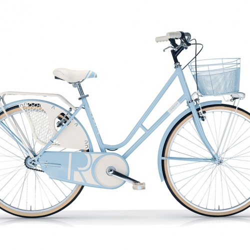 Bicicleta retro con cesta