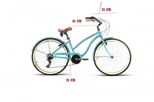 bicicleta cruiser mujer medidas