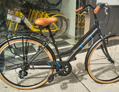 bicicleta urbana 28 pulgadas jlwenti negro mate