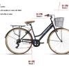 bicicleta urbana 28 pulgadas negra medidas
