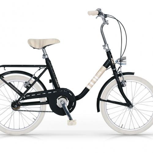 bicicleta urbana vintage negra mini