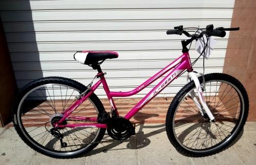 bicicleta oferta fucsia