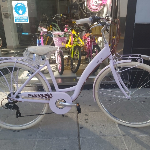 bicicleta color lila