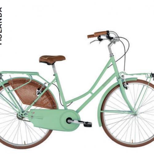 bicicleta clasica verde