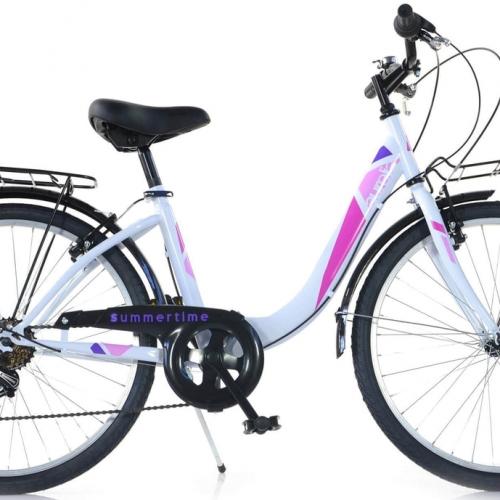 bicicleta urbana 26 pulgadas blanca