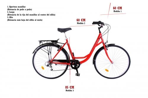 bicicleta de paseo 28 pulgadas medidas