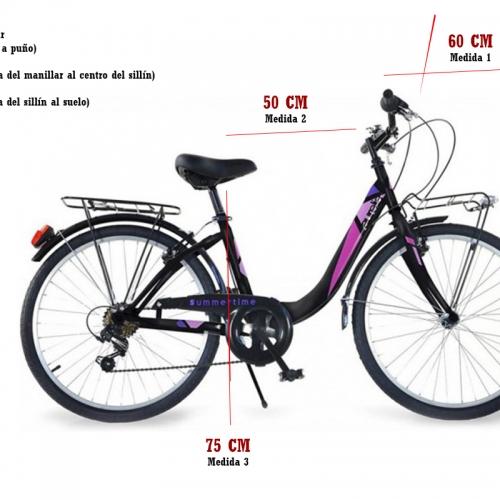 bicicleta 26 pulgadas medidas