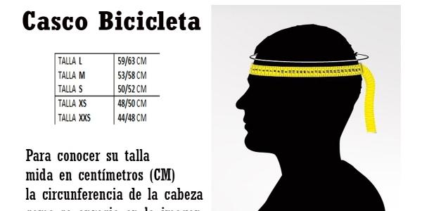 Tallas de casco para bicicletas